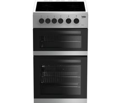 BEKO KDC5422AS 50 cm Electric Ceramic Cooker - Silver Best Price, Cheapest Prices