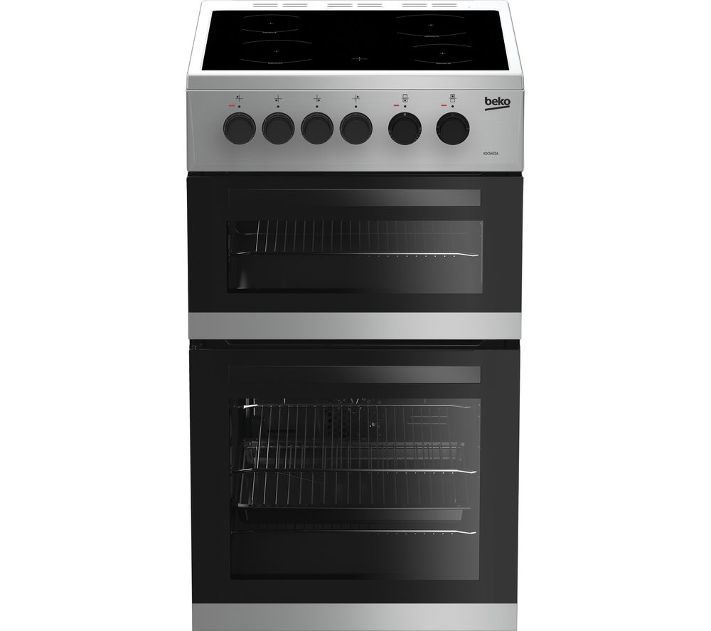 BEKO KDC5422AS 50 cm Electric Ceramic Cooker - Silver
