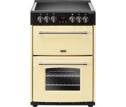 Farmhouse 60E 60 cm Electric Ceramic Cooker - Cream & Black