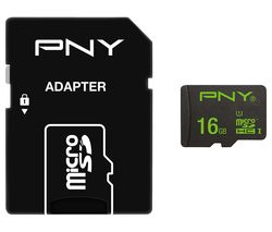 PNY High Performance Class 10 microSD Memory Card - 16 GB