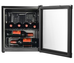 ESSENTIALS CWC15B18 Wine Cooler - Black