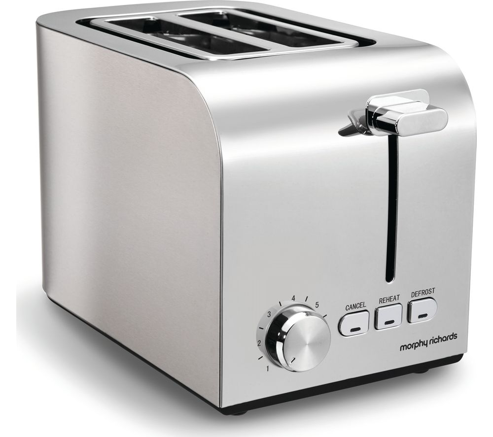MORPHY RICHARDS Equip 222055 2-Slice Toaster - Brushed Stainless Steel
