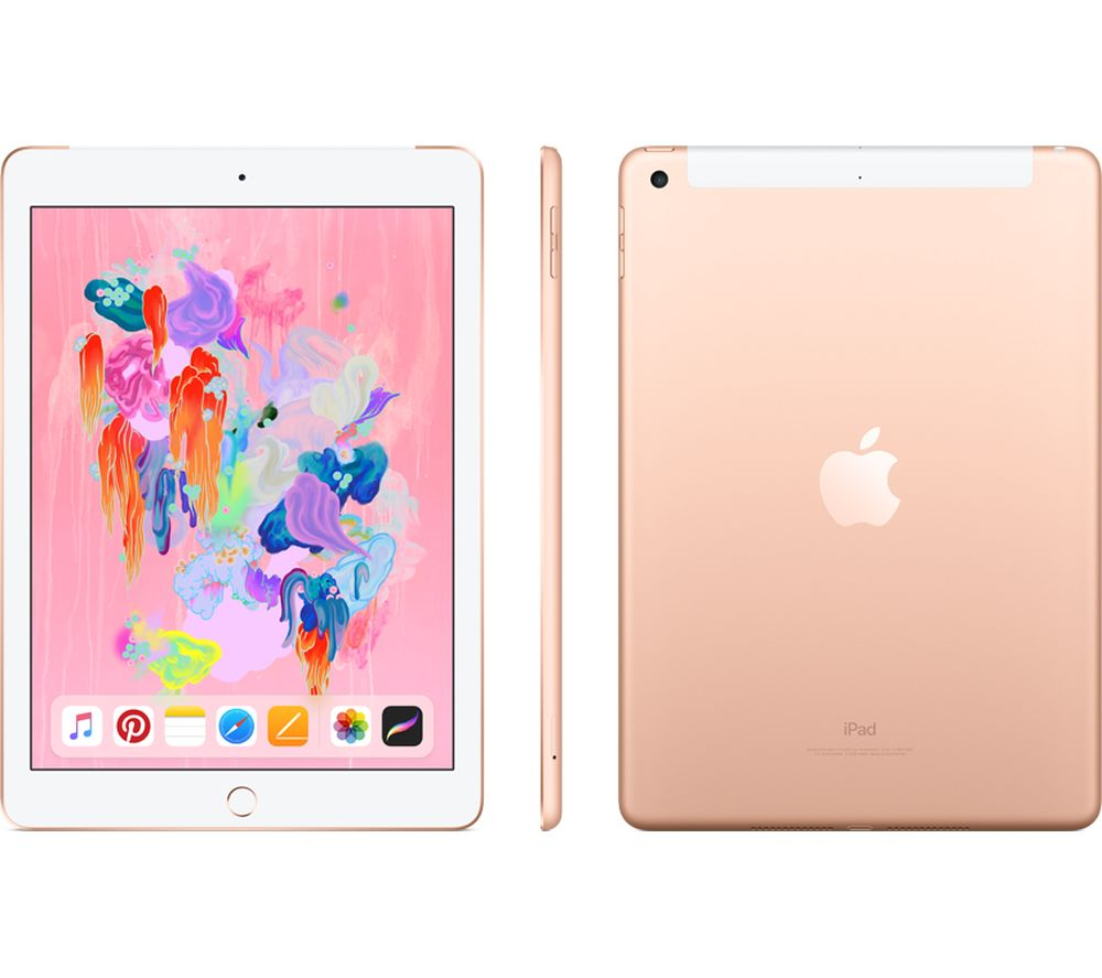 "APPLE 9.7"" iPad Cellular (2018) - 128 GB, Gold"