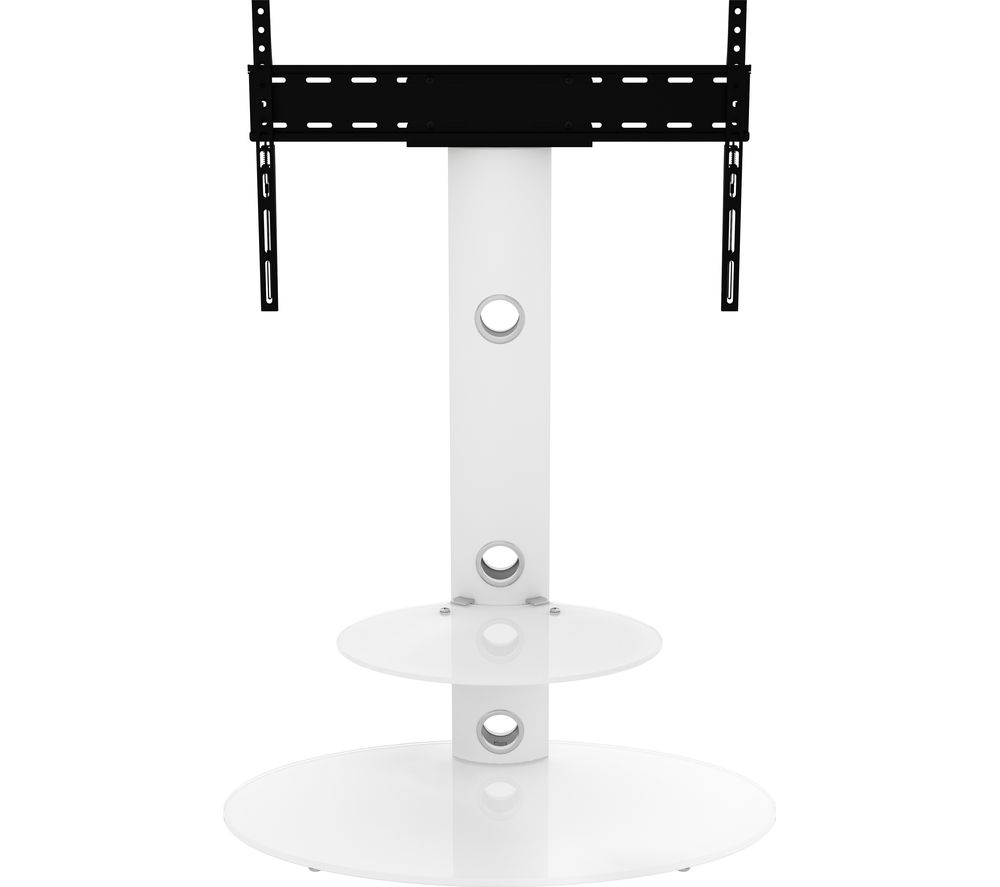 AVF Lugano FSL800LUSWW 800 mm TV Stand with Bracket - White