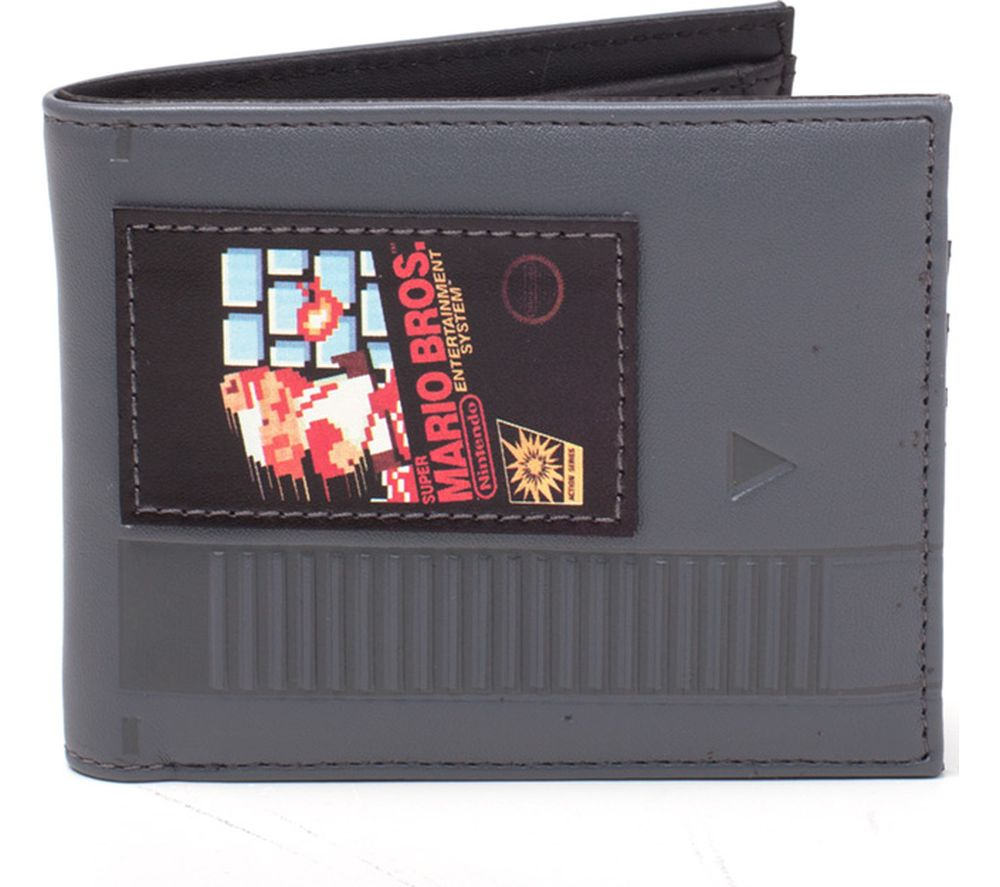 NINTENDO Super Mario Bros Cartridge Bifold Wallet - Black