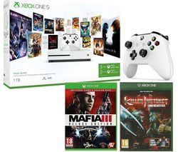 MICROSOFT Xbox One with Game Pass, Live Gold Membership, Mafia III, Killer Instinct & Wireless Controller Bundle