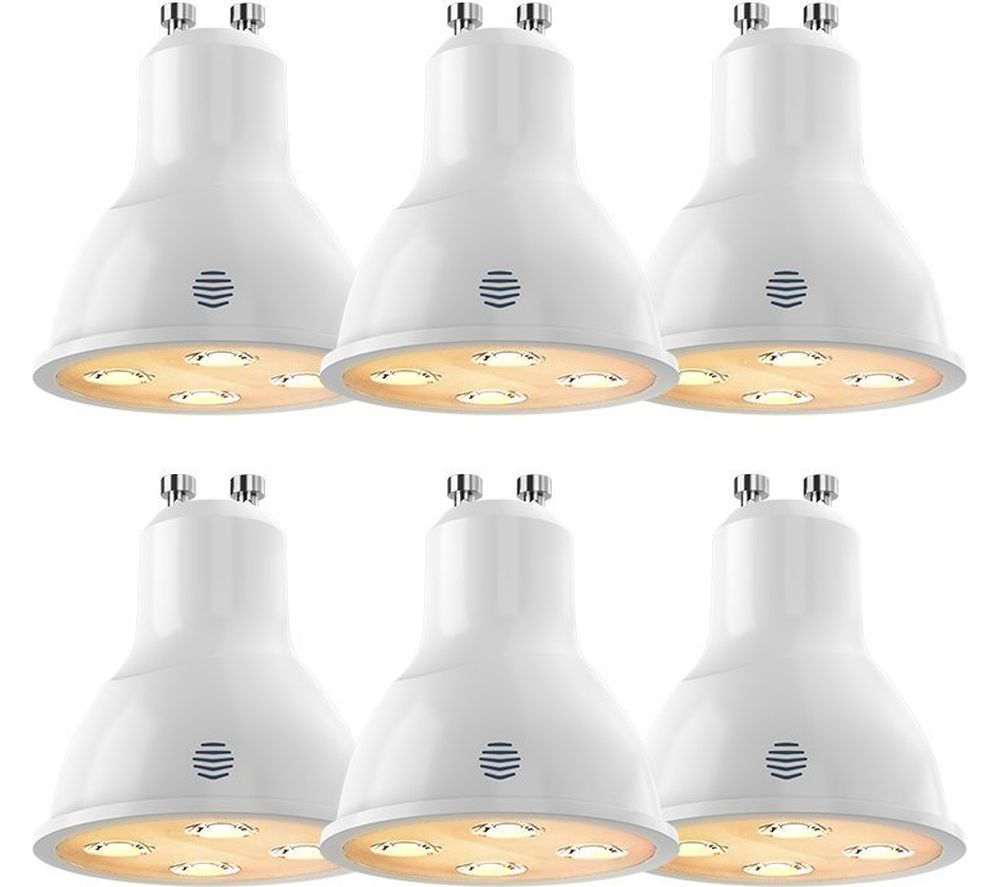 HIVE Active Dimmable Smart Bulb - GU10, 6 Pack