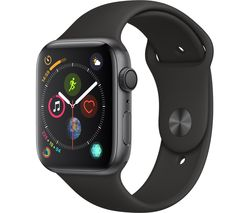 APPLE Watch Series 4 - Space Grey & Black Sports Band, 44 mm