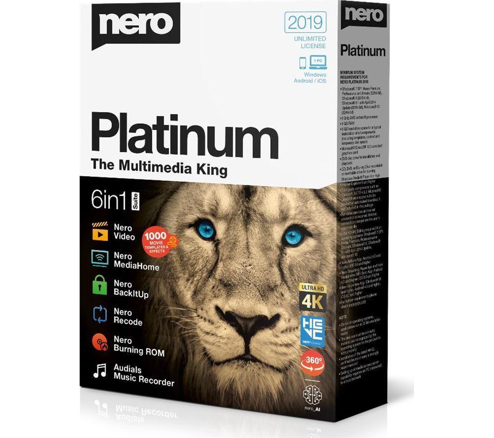 Image of NERO Platinum 2019 - Lifetime for 1 device