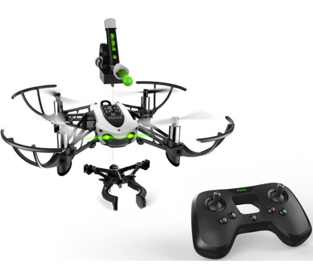 PARROT Mambo Mission Drone with Flypad Controller & FPV Goggles Bundle -  Black & White