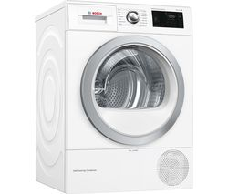 BOSCH Serie 6 WTWH7660GB WiFi-enabled 9 kg Heat Pump Tumble Dryer - White