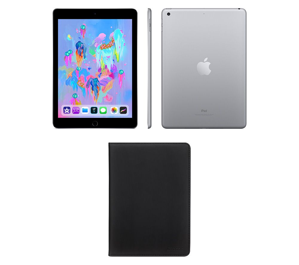 "APPLE 9.7"" iPad (2018) & Black Smart Cover Bundle - 32 GB, Space Grey"
