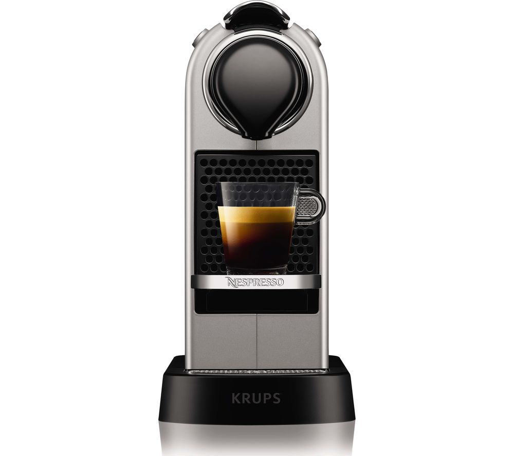 Image of by Krups CitiZ XN741B40 Coffee Machine - Silver, Silver