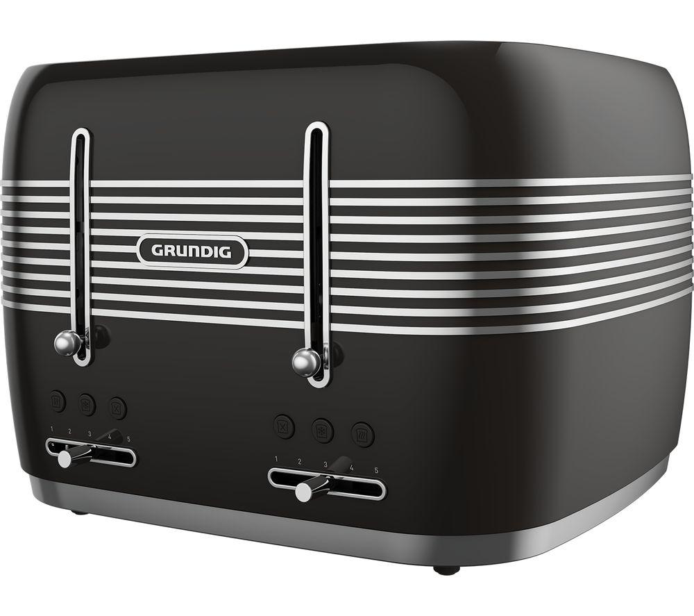 GRUNDIG TA7870B 4-Slice Toaster - Black