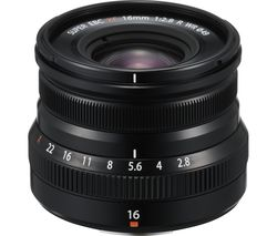 XF 16 mm f/2.8 R WR Wide-angle Prime Lens - Black