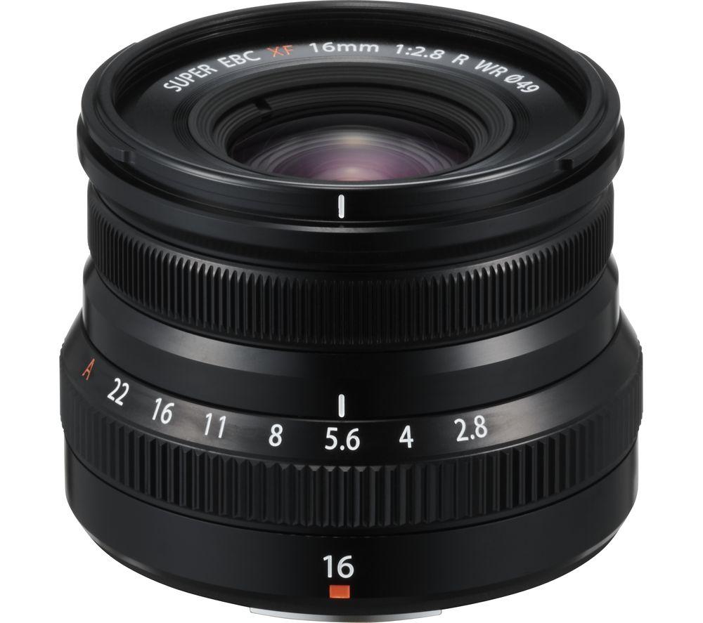 FUJIFILM XF 16 mm f/2.8 R WR Wide-angle Prime Lens - Black