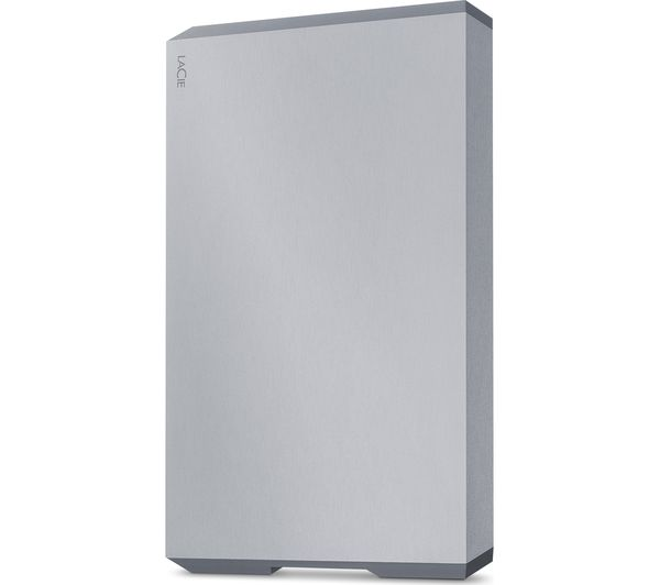 Image of LACIE STHG2000400 Portable Hard Drive - 2 TB, Silver