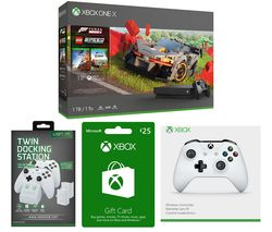 MICROSOFT Xbox One X, Forza Horizon 4, LEGO Speed Champions, Wireless Controller, Twin Docking Station & Xbox Live Gift Card Bundle