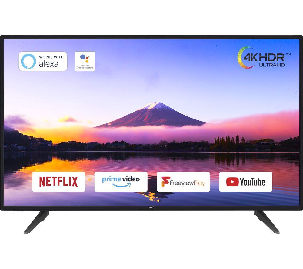 "JVC LT-50C800 50"" Smart 4K Ultra HD HDR LED TV - Black"
