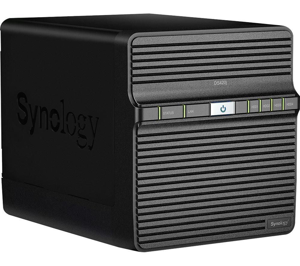 SYNOLOGY DS420J Disk Station Server NAS Drive - 24 TB, 4 Bay, Black