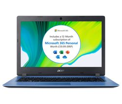 "Image of ACER Aspire 1 14"" Laptop - Intel® Celeron¿, 64 GB eMMC - Blue"