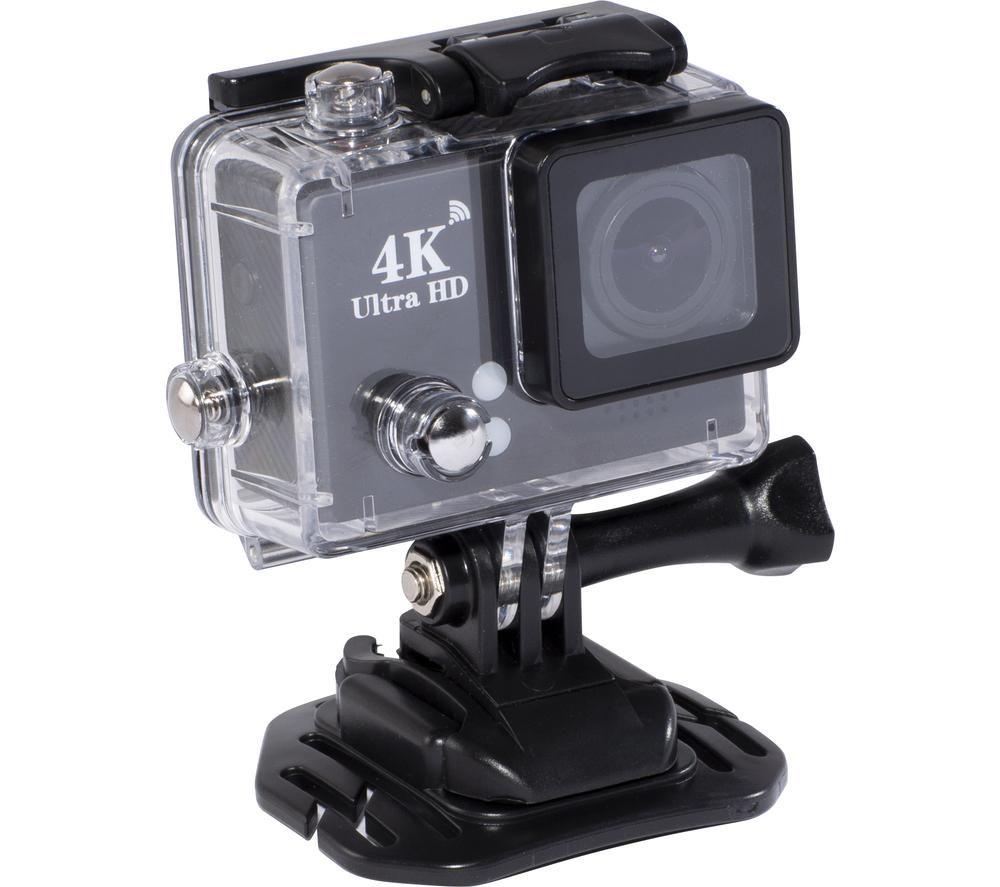 Image of DAEWOO AVS1360 4K Ultra HD Action Camera - Black, Black
