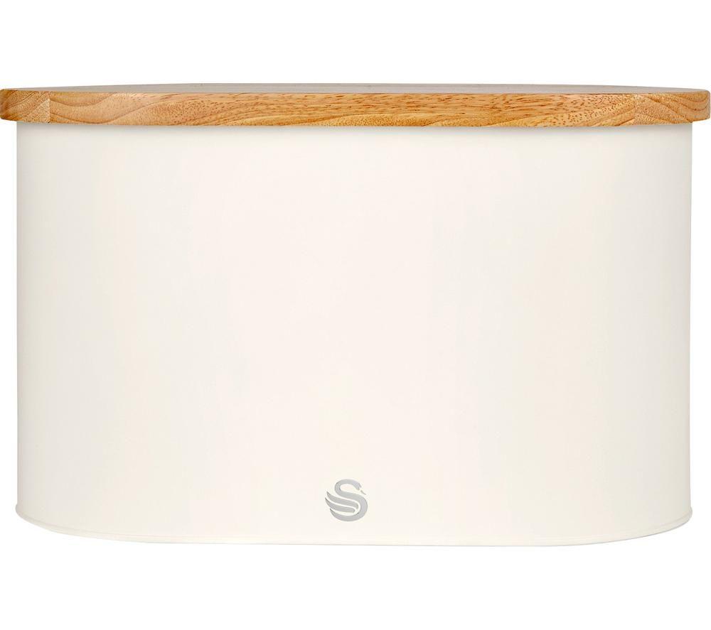 SWAN Nordic Bread Bin - Cotton White, White