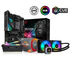 AMD Ryzen 7 X Processor, ROG STRIX Motherboard, 16 GB RAM & Corsair RGB Cooler Components Bundle