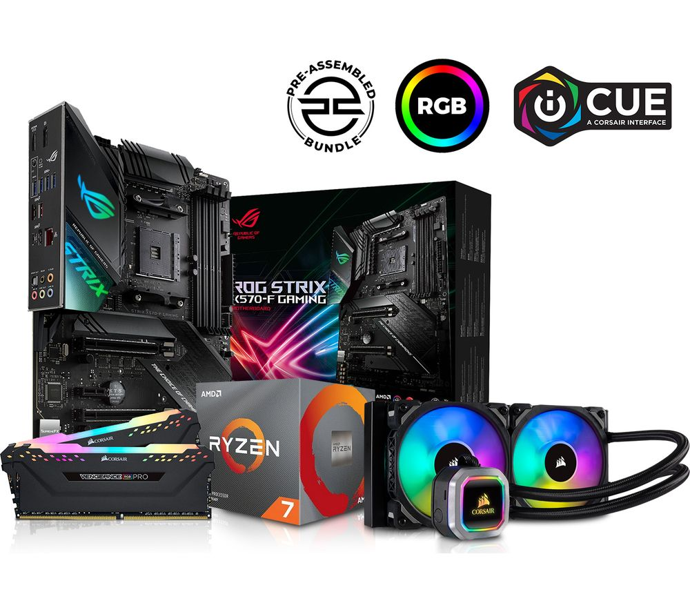 Image of PC SPECIALIST AMD Ryzen 7 X Processor, ROG STRIX Motherboard, 16 GB RAM & Corsair RGB Cooler Components Bundle