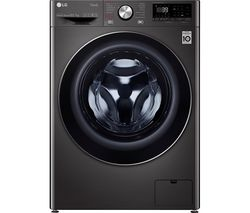 TurboWash 360 with AI DD V9 FWV917BTSE WiFi-enabled 10.5 kg Washer Dryer - Black Steel