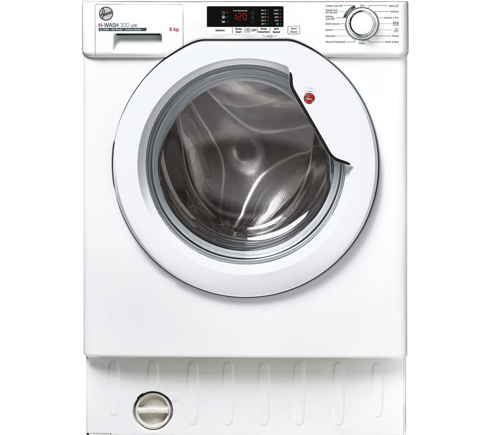 HOOVER H-WASH 300 HBWS 48D2E Integrated 8 kg 1400 Spin Washing Machine