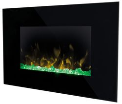 Toluca TLC20 Wall Mounted Electric Fireplace - Black