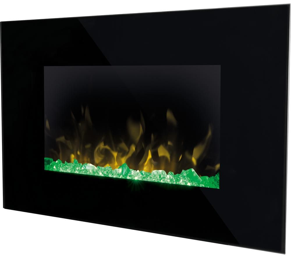 Image of DIMPLEX Toluca TLC20 Wall Mounted Electric Fireplace - Black, Black
