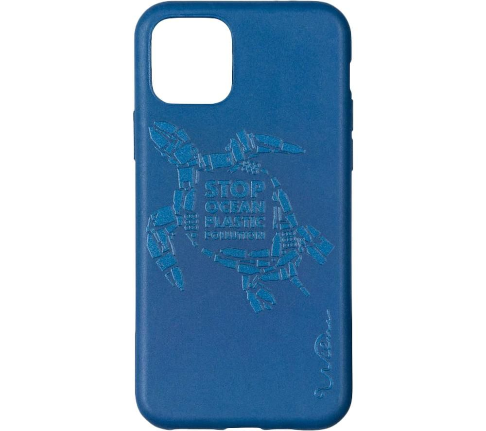 WILMA Stop Ocean Plastic Pollution Turtle iPhone 11 Pro Case - Blue, Blue