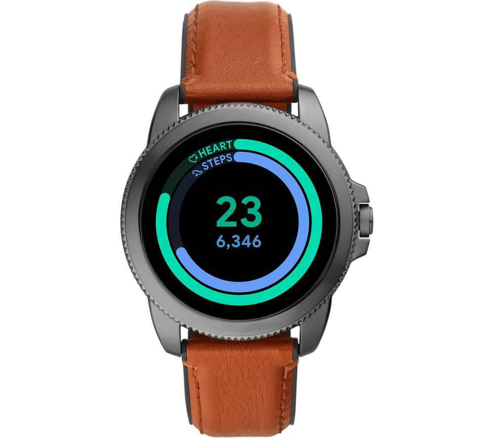 FOSSIL Gen 5E FTW4055 Smartwatch - Brown, Leather Strap