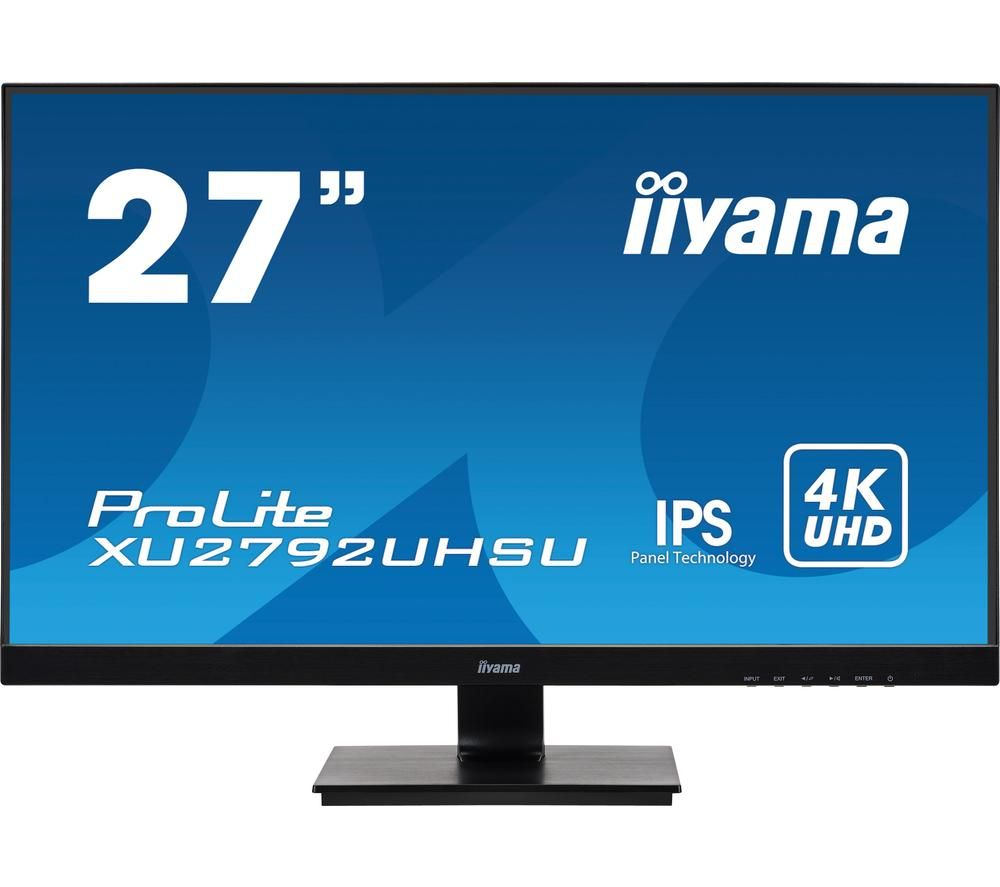 "IIYAMA ProLite XU2792UHSU-B1 4K Ultra HD 27"" IPS LED Monitor - Black"