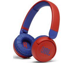 Jr310BT Wireless Bluetooth Kids Headphones - Red & Blue
