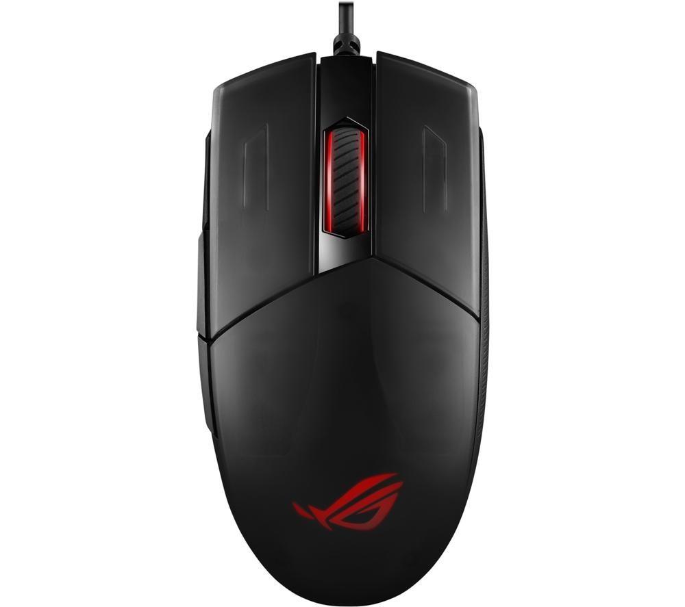 Image of Asus ROG Strix Impact II Corded Gaming mouse Optical Backlit, Ergonomic Black