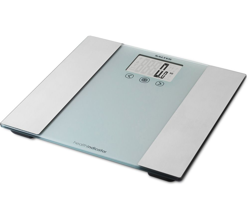 SALTER 9196 SV3R Bathroom Scales - Silver & Grey