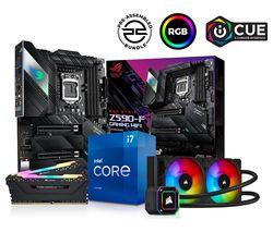 Intel® Core™ i7 Processor, ROG STRIX Gaming Motherboard, 16 GB RAM & H100i RGB CPU Cooler Components Bundle