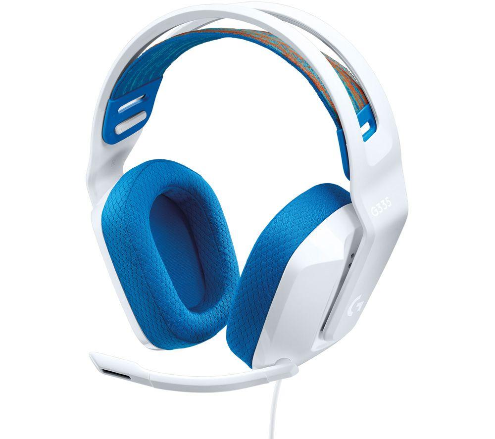 LOGITECH G335 Gaming Headset - White & Blue