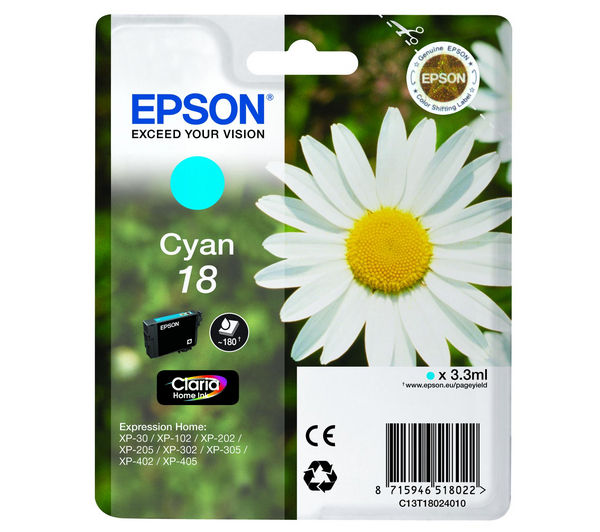 EPSON Daisy T1802 Cyan Ink Cartridge