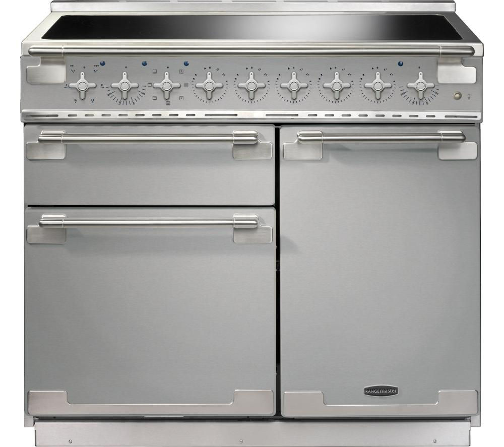 Image of RANGEMASTER Elise 100 Electric Induction Range Cooker - Stainless Steel & Chrome, Stainless Steel