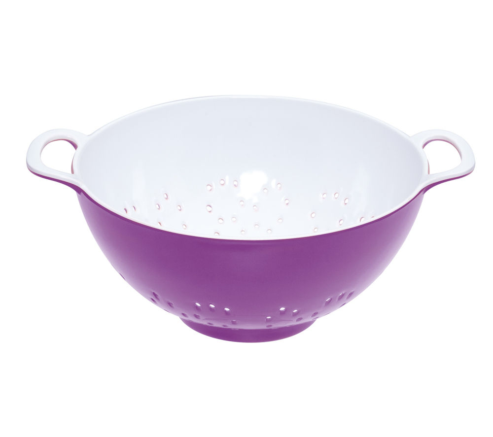 COLOURWORKS 700 ml Colander - Purple & White
