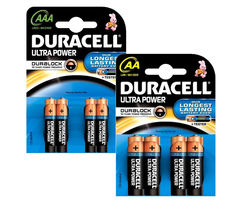 DURACELL LR03/MX2400 Ultra Power AAA Alkaline Batteries