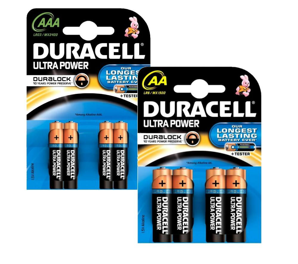 DURACELL LR6/MX1500 Ultra Power AA & LR03/MX2400 Ultra Power AAA Alkaline Batteries