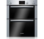 BOSCH HBN13B251B Electric Built-under Double Oven - Brushed Steel