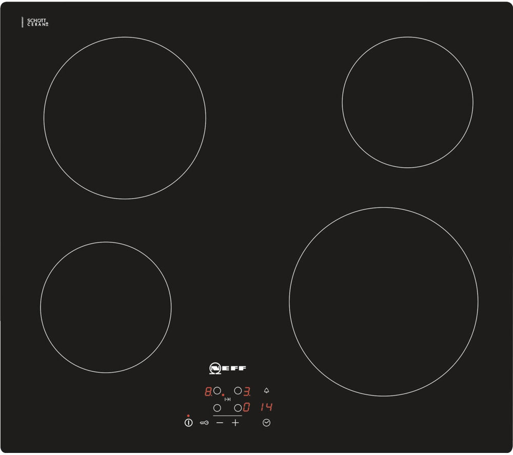 neff t10b40x2 electric ceramic hob black black bluewater. Black Bedroom Furniture Sets. Home Design Ideas