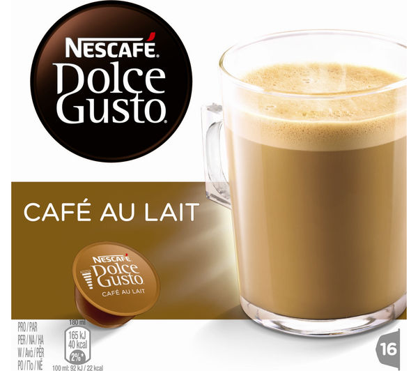 buy nescafe dolce gusto caf au lait pack of 16 free delivery currys. Black Bedroom Furniture Sets. Home Design Ideas