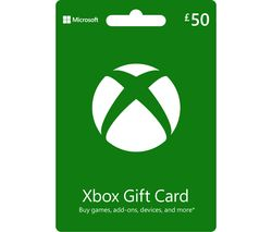 Xbox Live Gift Card - £50